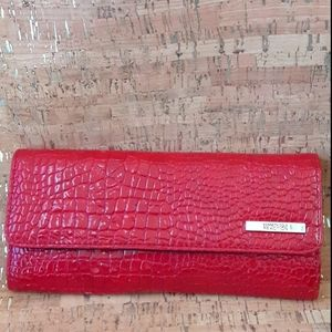 Kenneth Cole Reaction Red embossed Wallet